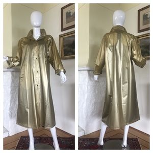 Bloomingdales Full Length Gold PVC Rain Coat